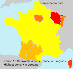 Surname Schwanke in France