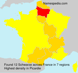 Surname Schwarze in France