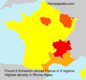 Surname Schweich in France