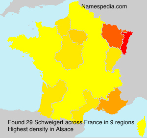 Surname Schweigert in France