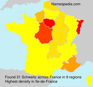 Surname Schweitz in France
