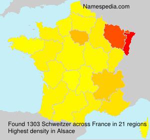 Surname Schweitzer in France