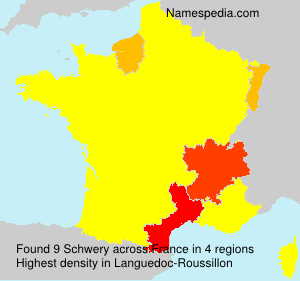 Surname Schwery in France
