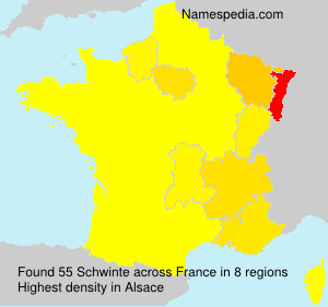 Surname Schwinte in France
