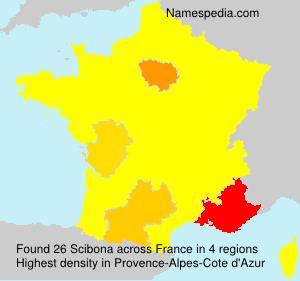 Familiennamen Scibona - France