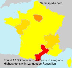 Surname Scimone in France