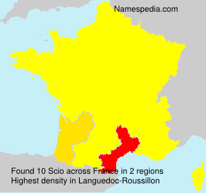 Surname Scio in France