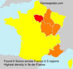 Familiennamen Sciora - France