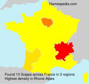 Familiennamen Scippa - France