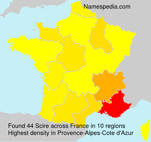 Surname Scire in France