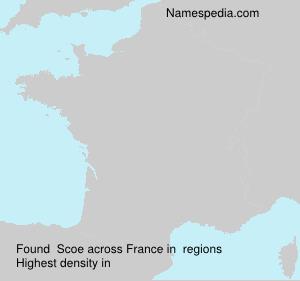 Surname Scoe in France