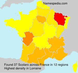 Familiennamen Scolaro - France