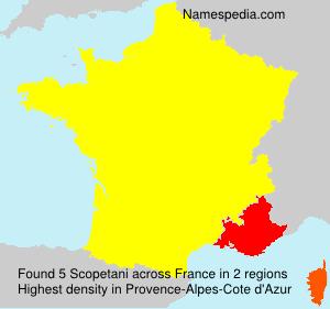 Surname Scopetani in France