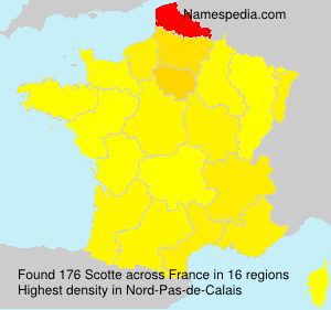 Surname Scotte in France