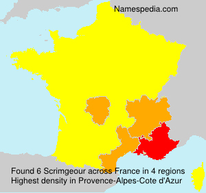 Surname Scrimgeour in France
