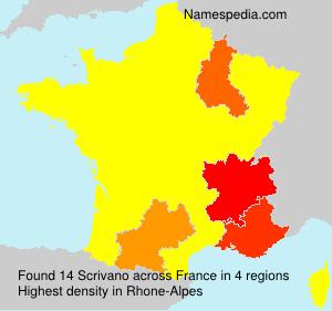 Surname Scrivano in France