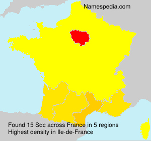 Surname Sdc in France