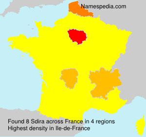 Surname Sdira in France