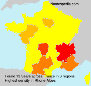 Surname Sears in France