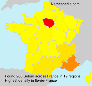 Surname Seban in France