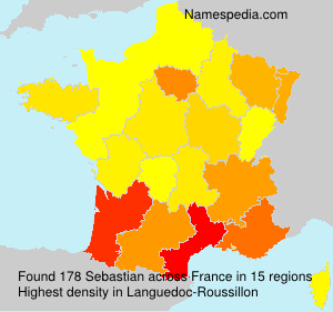 Familiennamen Sebastian - France