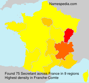 Surname Secretant in France