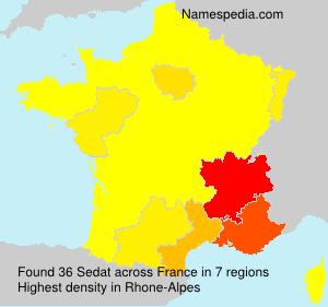 Familiennamen Sedat - France