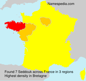 Surname Seddouk in France