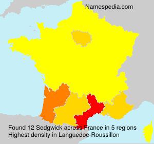Surname Sedgwick in France