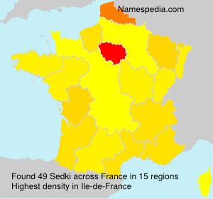 Surname Sedki in France