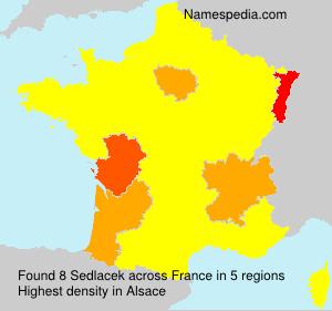 Familiennamen Sedlacek - France
