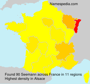 Surname Seemann in France