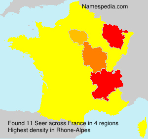 Surname Seer in France