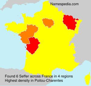 Familiennamen Seffer - France