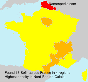 Surname Sefir in France