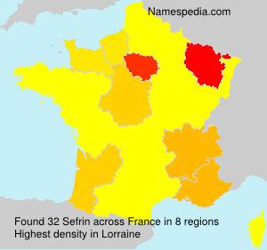 Surname Sefrin in France