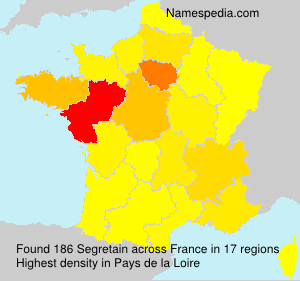 Surname Segretain in France