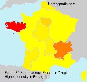 Surname Sehan in France