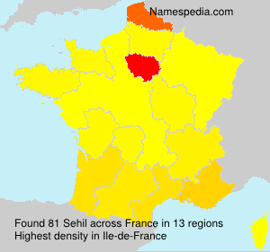 Surname Sehil in France