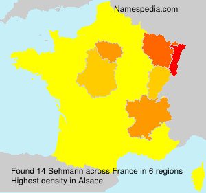 Surname Sehmann in France