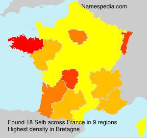 Familiennamen Seib - France