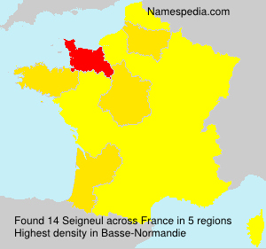Surname Seigneul in France