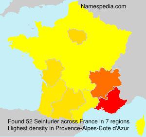 Surname Seinturier in France