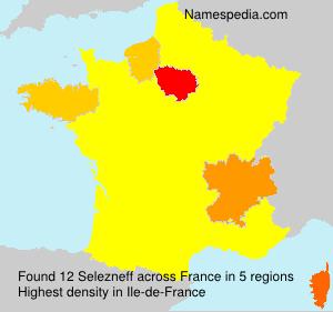 Surname Selezneff in France