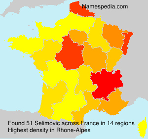 Surname Selimovic in France