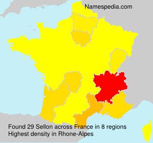 Familiennamen Sellon - France