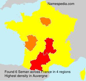 Familiennamen Seman - France