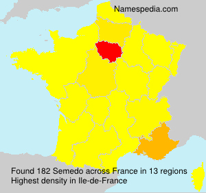Familiennamen Semedo - France