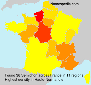Surname Semichon in France