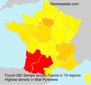 Surname Sempe in France